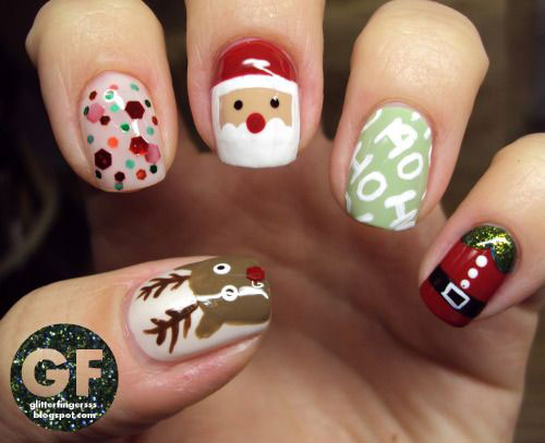 Christmas-Santa-Face-Nail-Art-Designs-Ideas-Stickers-2015-Xmas-Nails-2