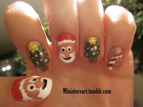 Christmas-Santa-Face-Nail-Art-Designs-Ideas-Stickers-2015-Xmas-Nails-3