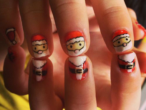 Christmas-Santa-Face-Nail-Art-Designs-Ideas-Stickers-2015-Xmas-Nails-7