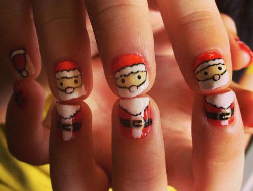 Christmas-Santa-Face-Nail-Art-Designs-Ideas-Stickers-2015-Xmas-Nails-7