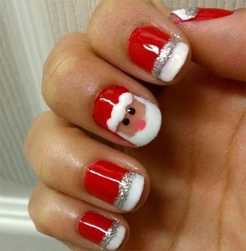 Santa Nail Art: Christmas Santa Face Nail Art Designs, Ideas & Stickers