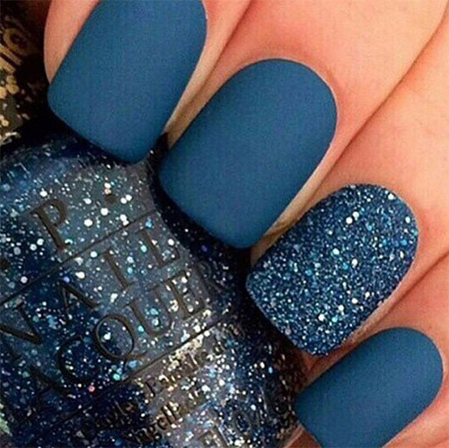 Nailart 2016 Trends: 15 Blue Winter Nail Art Designs, Ideas, Trends & Stickers
