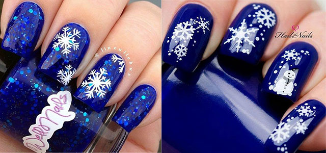 15 Blue Winter Nail Art Designs, Ideas, Trends & Stickers 2016 | Winter Nails | Fabulous Nail Art Designs