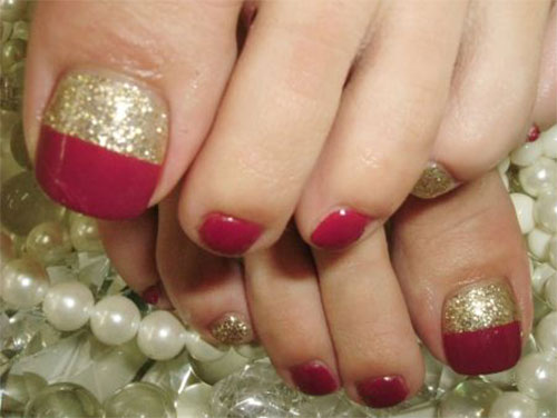 15 Christmas Toe Nail Art Designs Ideas Amp Stickers 2015 Xmas Nails Fabulous Nail Art Designs
