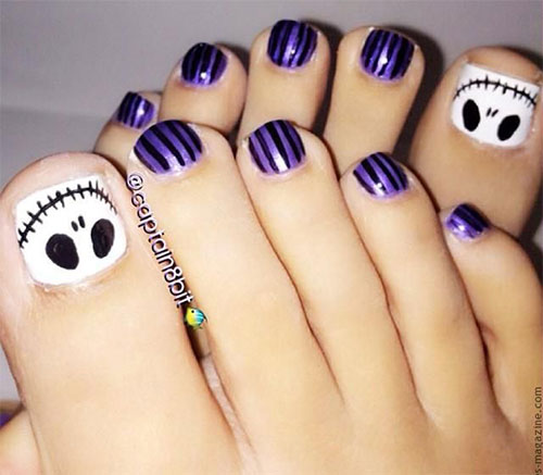 Foot Nail Art Design: 15 Christmas Toe Nail Art Designs, Ideas & Stickers 2015