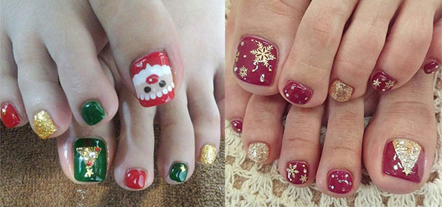 15 Christmas Toe Nail Art Designs, Ideas & Stickers 2015 | Xmas Nails |  Fabulous Nail Art Designs - 15 Christmas Toe Nail Art Designs, Ideas & Stickers 2015 Xmas