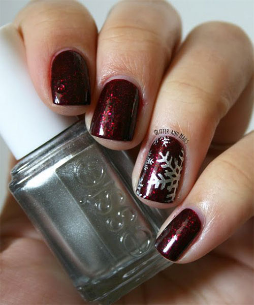 15 Winter Gel Nail Art Designs Ideas Stickers