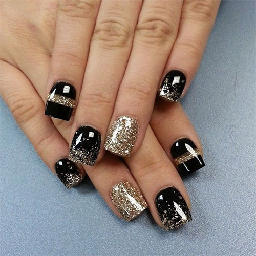 Fabulous Happy New Year Nail Art Designs Ideas Stickers