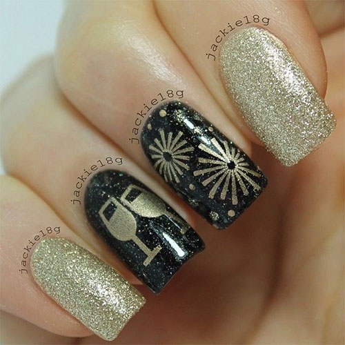 18 Best Hy New Year Nail Art Designs
