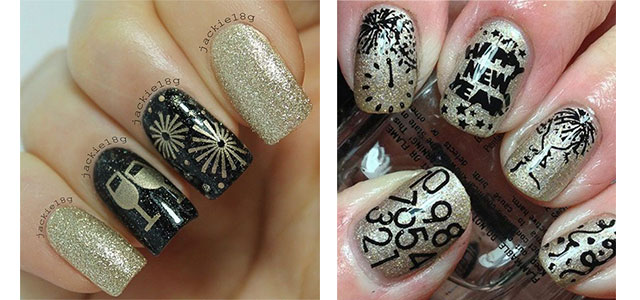18 best happy new year nail art designs ideas stickers 2015 18 best happy new year nail art designs ideas stickers 2015 2016 fabulous nail art designs prinsesfo Image collections