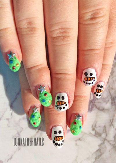 18-Snowman-Nail-Art-Designs-Ideas-Trends-Stickers-2016-Winter-Nails-1