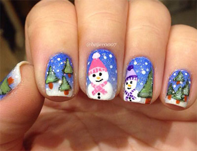 18-Snowman-Nail-Art-Designs-Ideas-Trends-Stickers-2016-Winter-Nails-16