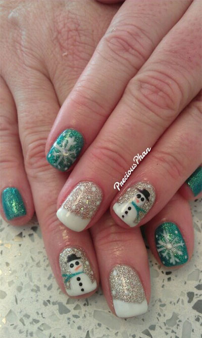 18-Snowman-Nail-Art-Designs-Ideas-Trends-Stickers-2016-Winter-Nails-2
