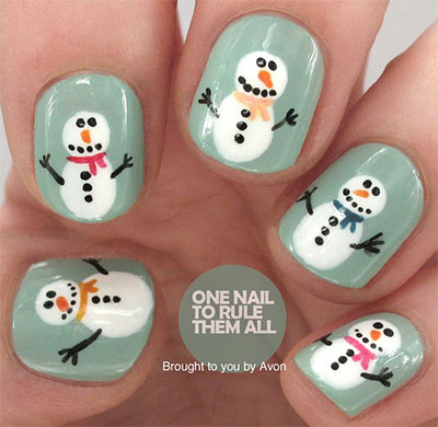 18-Snowman-Nail-Art-Designs-Ideas-Trends-Stickers-2016-Winter-Nails-3