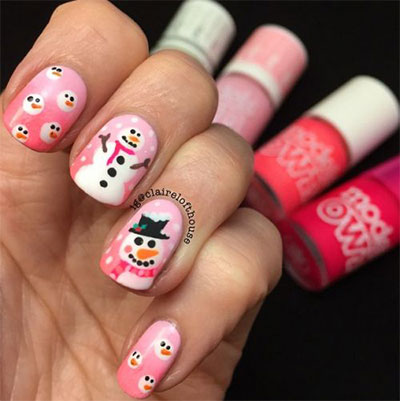 18-Snowman-Nail-Art-Designs-Ideas-Trends-Stickers-2016-Winter-Nails-6