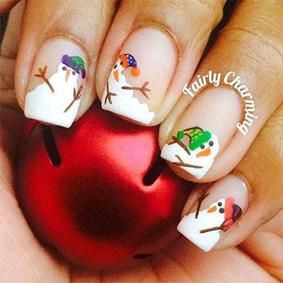 18-Snowman-Nail-Art-Designs-Ideas-Trends-Stickers-2016-Winter-Nails-7