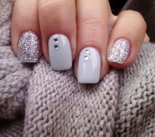 20+ Cute, Simple & Easy Winter Nail Art Designs & Ideas