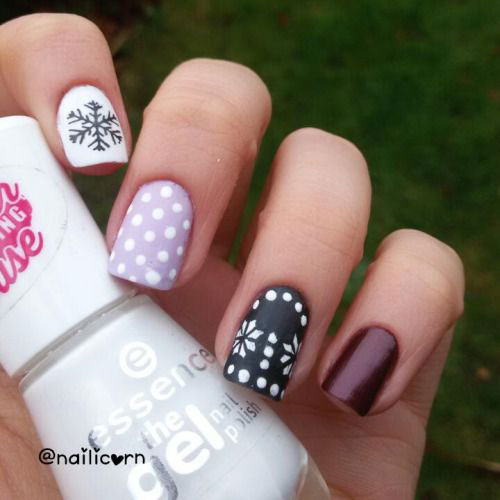 20-Cute-Simple-Easy-Winter-Nail-Art-Designs- - 20+ Cute, Simple & Easy Winter Nail Art Designs & Ideas 2015/ 2016