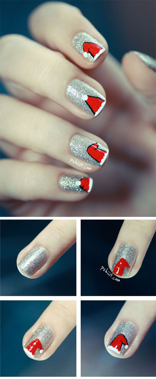 20-Easy-Simple-Christmas-Nail-Art-Tutorials-For-Beginners-Learners-2015-1