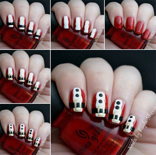Christmas Nail Designs Tutorial: 20+ Easy & Simple Christmas Nail Art Tutorials For