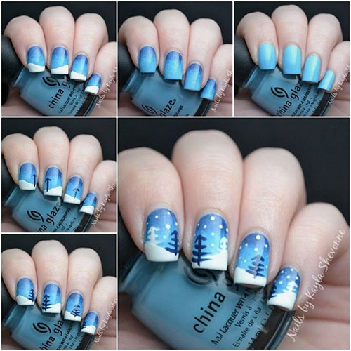 Diy christmas nail designs best nails 2018 20 easy simple christmas nail art tutorials for ners prinsesfo Image collections
