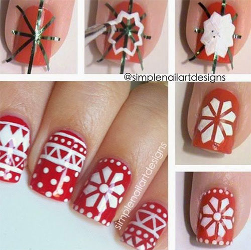 Easy Christmas Nail Art: 20+ Easy & Simple Christmas Nail Art Tutorials For