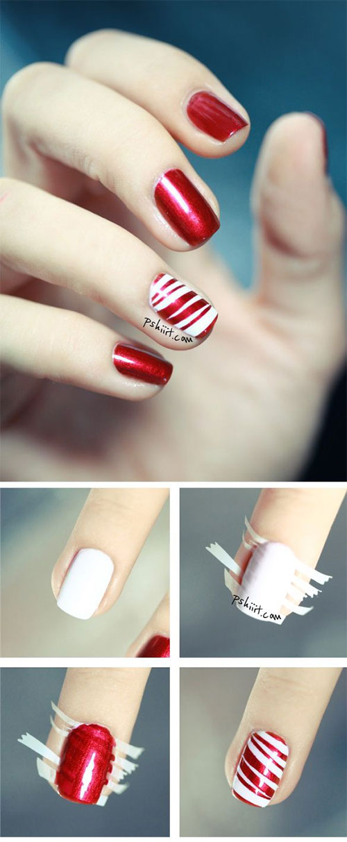 20+ Easy & Simple Christmas Nail Art Tutorials For Beginners ...