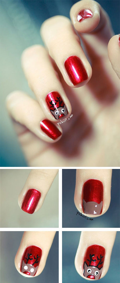 20-Easy-Simple-Christmas-Nail-Art-Tutorials-For-Beginners-Learners-2015-3