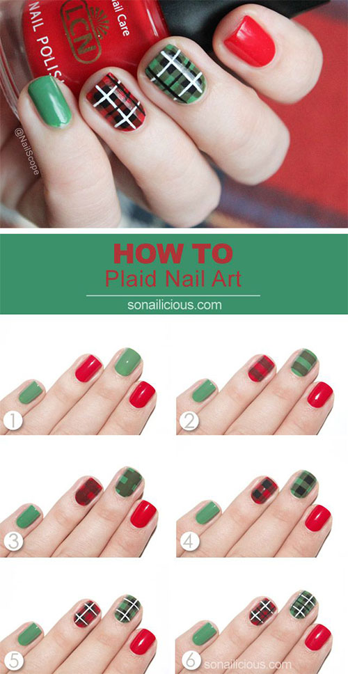 Simple And Easy Christmas Nail Art Designs