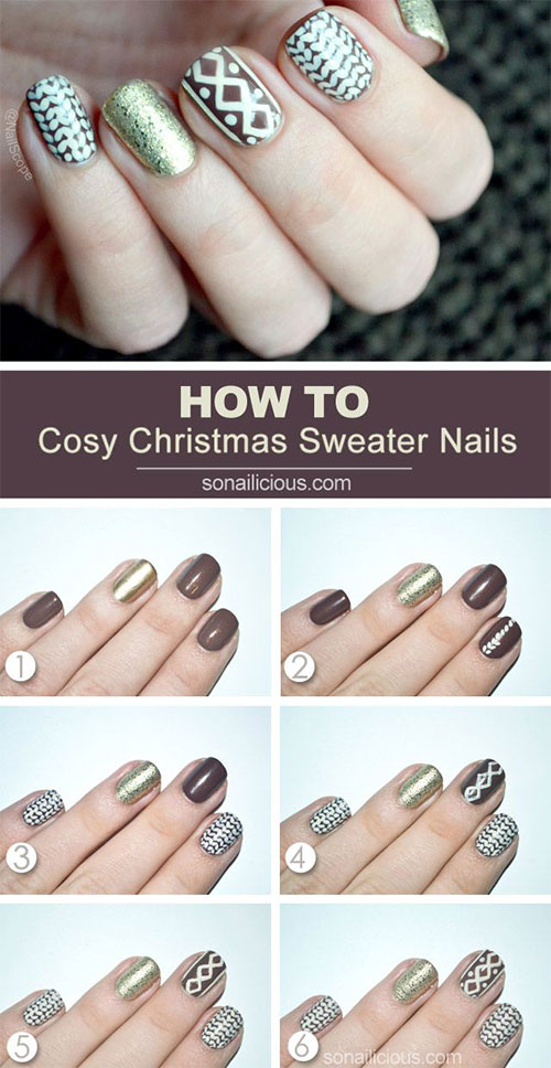 20-Easy-Simple-Christmas-Nail-Art-Tutorials-For-Beginners-Learners-2015-5