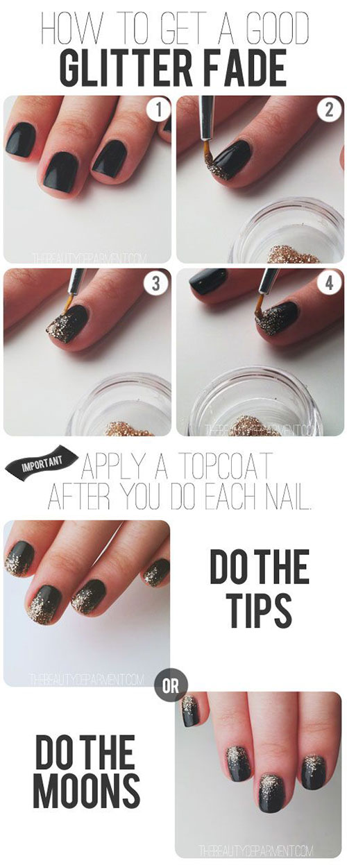 Step By Step Happy New Year Nail Art Tutorials For Beginners 2015 2016 Fa
