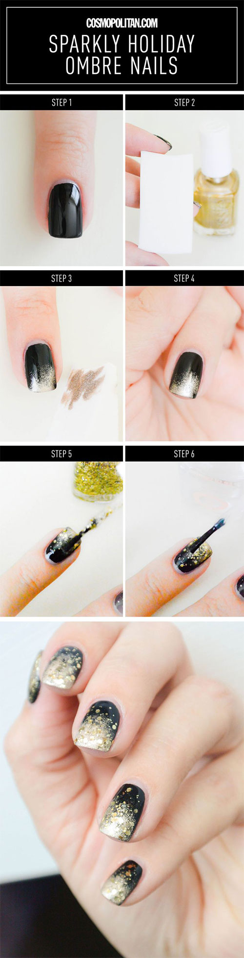 Step-By-Step-Happy-New-Year-Nail-Art-Tutorials-For-Beginners-2015-2016-2