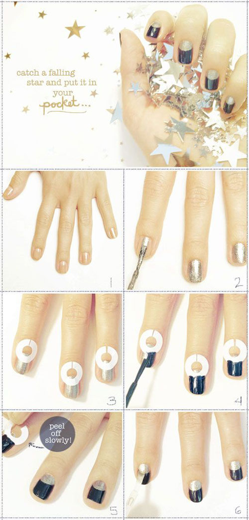 Step-By-Step-Happy-New-Year-Nail-Art-Tutorials-For-Beginners-2015-2016-3