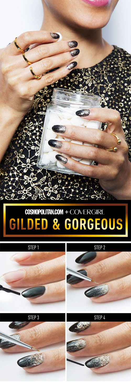 Step-By-Step-Happy-New-Year-Nail-Art-Tutorials-For-Beginners-2015-2016-4