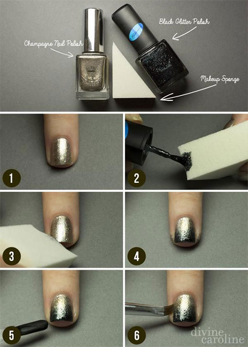 Step-By-Step-Happy-New-Year-Nail-Art-Tutorials-For-Beginners-2015-2016-6
