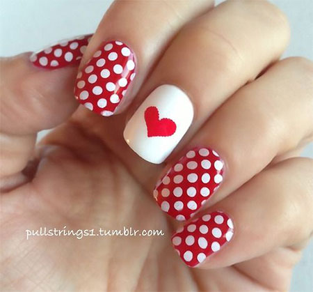 12-Red-Love-Heart-Nail-Art-Designs-Ideas- - 12+ Red Love Heart Nail Art Designs, Ideas & Stickers 2016