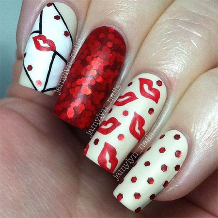 12-Valentines-Day-Acrylic-Nail-Art-Designs-Ideas- - 12+ Valentine's Day Acrylic Nail Art Designs & Ideas 2016 Fabulous