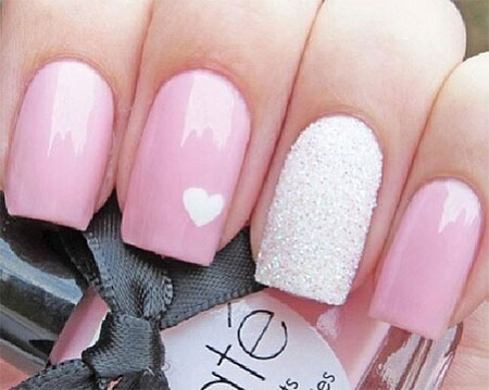 12 valentine's day acrylic nail art designs  ideas 2016
