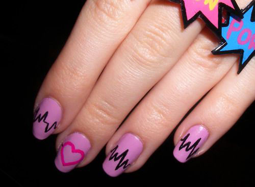 12-Valentines-Day-Heartbeat-Nail-Art-Designs-Ideas-Stickers-2016-8