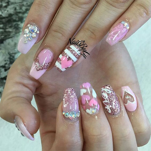 15-Amazing-3D-Valentines-Day-Nail-Art-Designs- - 15 Amazing 3D Valentine's Day Nail Art Designs, Ideas & Stickers