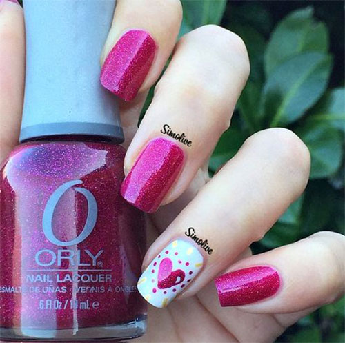15-Easy-Cute-Valentines-Day-Nail-Art-Designs- - 15 Easy & Cute Valentine's Day Nail Art Designs & Ideas 2016