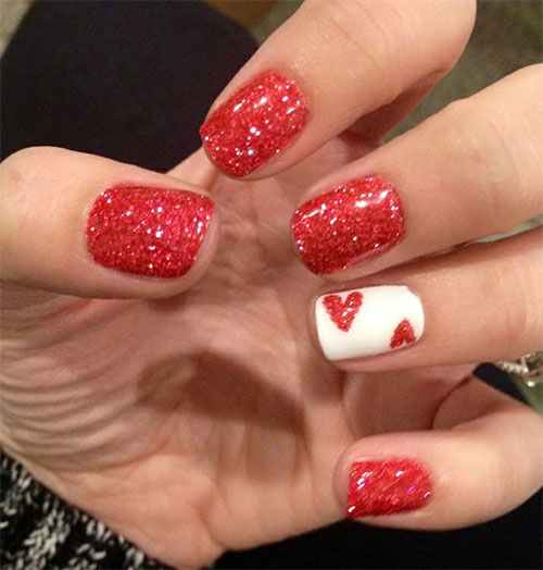 Großartig 15 Easy Cute Valentines Day Nail Art Designs