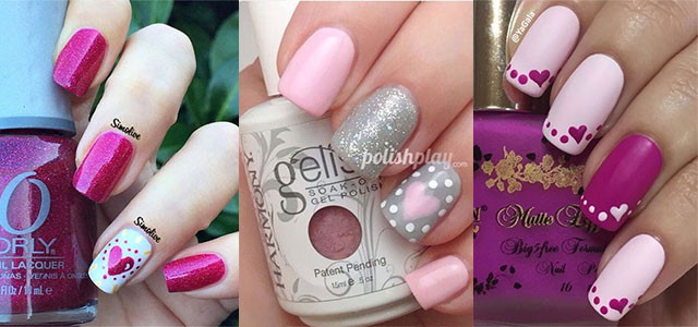Nail Art Designs Ideas 45 warm nails perfect for spring 15 Easy Cute Valentines Day Nail Art Designs