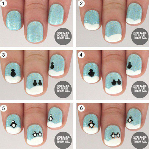 15 Easy Step By Winter Nail Art