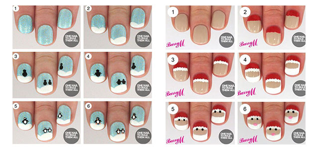 15 Easy Step By Step Winter Nail Art Tutorials For Beginners 2016