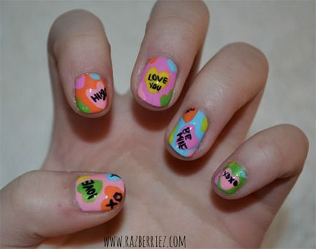 15-Valentines-Day-Candy-Heart-Nail-Art-Designs-Ideas-Stickers-2016-8