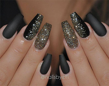 15-Winter-Black-Nail-Art-Designs-Ideas-Stickers- - 15 Winter Black Nail Art Designs, Ideas & Stickers 2016 Winter