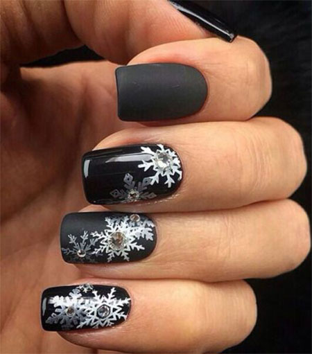 15-Winter-Black-Nail-Art-Designs-Ideas-Stickers-2016-Winter-Nails-11