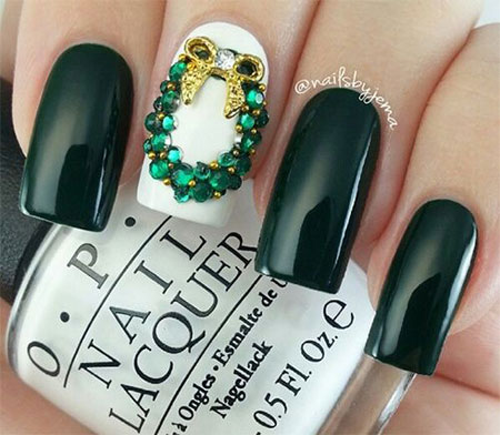 15-Winter-Black-Nail-Art-Designs-Ideas-Stickers-2016-Winter-Nails-8