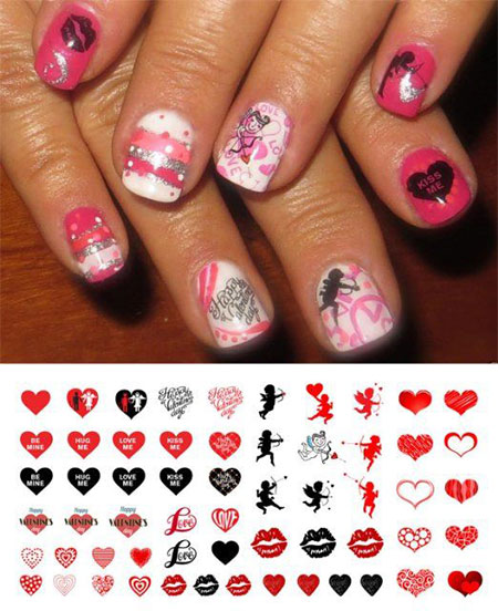 15-Amazing-Valentines-Day-Nail-Art-Stickers-For-Girls-2016-1